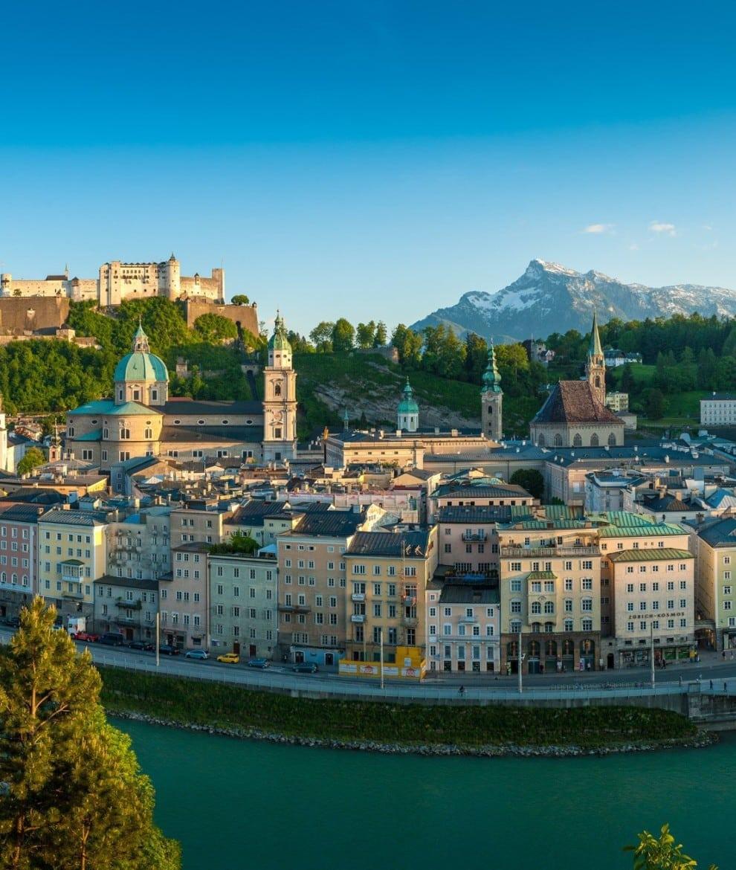 Stadtblick mit Untersberg im Hintergrund © Tourismus Salzburg